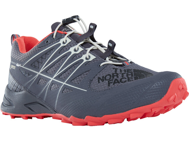 The North Face Ultra MT II GTX - Zapatillas running Mujer - gris/rojo